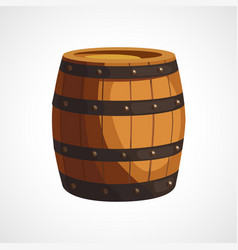 Cartoon wooden barrel vector