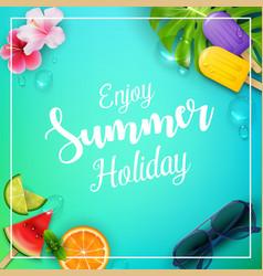 Enjoy summer holiday with ice cream vector