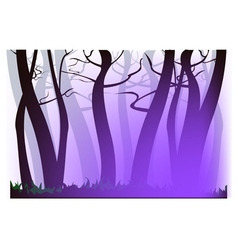 Morning purple haze vector image vector image