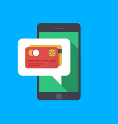 pay with your smartphone hand holding smartphone vector image