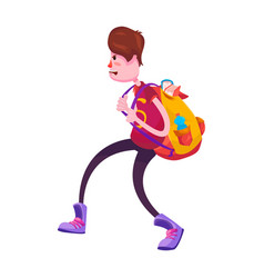 picture of a high school student with a backpack vector image