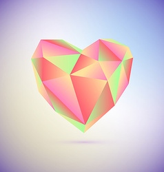 Polygonal heart Low poly valentines day vector image vector image