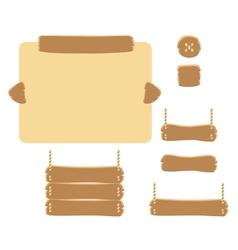 Set of cartoon buttons gui elements vector image