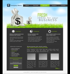 site with a bag of dollars for business vector image vector image