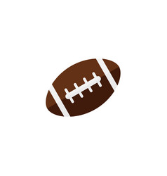 american football ball flat icon college sport vector image