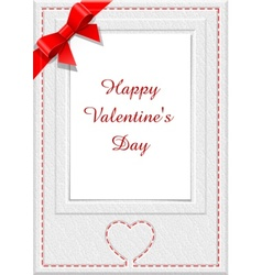 frame for saint valentines day eps10 transparent o vector image vector image