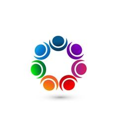 People social networking app icon logo vector image vector image