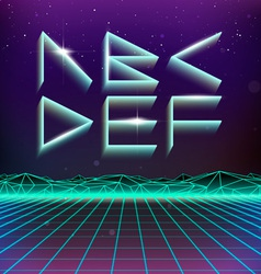 80s Retro Futurism Geometric Font from A to F vector image vector image