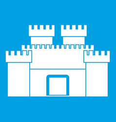 ancient fortress icon white vector image vector image