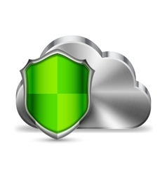 Cloud Technology Security vector image vector image