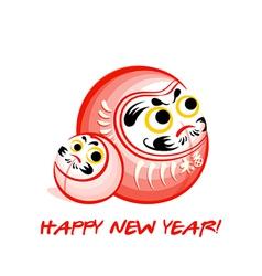 Daruma New Year card vector image