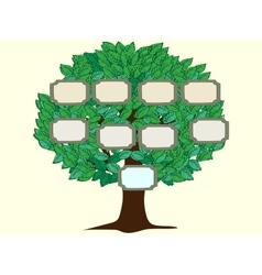 Family tree one person background vector image