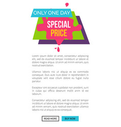 only today special price single web page s vector image vector image