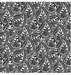 ornamental seamless pattern black and white vector image