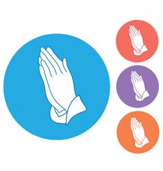 praying hands vector image vector image
