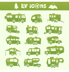 Recreational Vehicle set vector image vector image