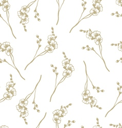 Seamless orchid flower pattern vector image vector image
