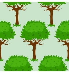 Seamless pattern with trees in summer or spring vector image vector image