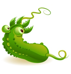 contaminated cucumber vector image vector image