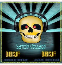 DJ Skull Poster vector image