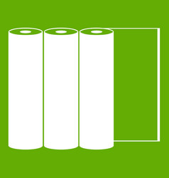 rolls of paper icon green vector image vector image
