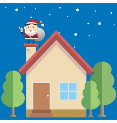 Santa House vector image vector image