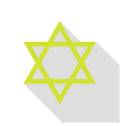Shield magen david star symbol of israel pear vector