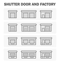 Shutter Door icon vector image
