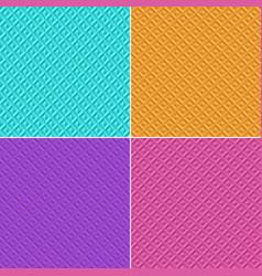 3d geometric pattern background set pink orange vector