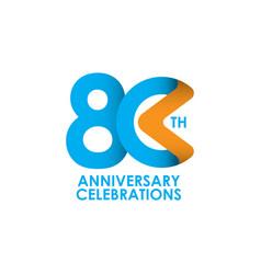 80 years anniversary celebrating template design vector