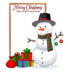 a merry christmas frame vector image