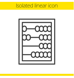 abacus linear icon vector image