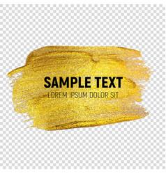 Abstract golden paint textured art vector