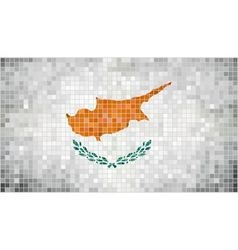 Abstract mosaic flag of Cyprus vector image