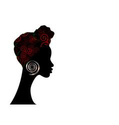 afro woman shenbolen ankara headwrap copy space vector image