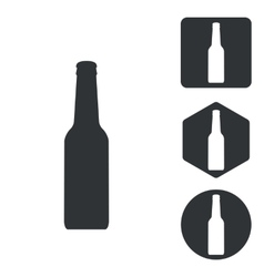 Alcohol icon set monochrome vector