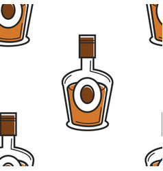 Armenian vodka traditional drink artsakh or cognac vector