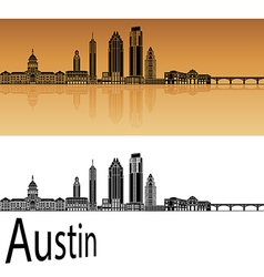 Austin skyline in orange vector