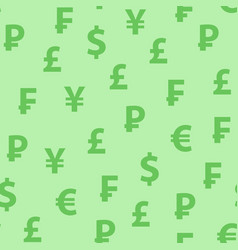 background green color with symbols popular vector image