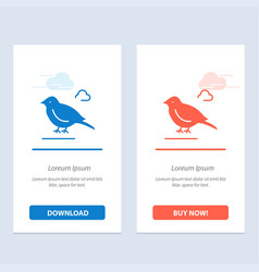 Bird british small sparrow blue and red download vector