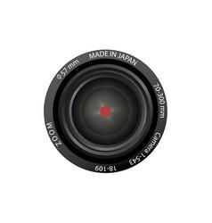 black lens for camera on white vector image