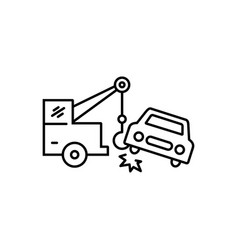 Car towing vector