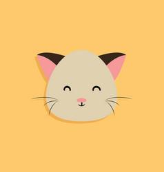 Cat cartoon face vector