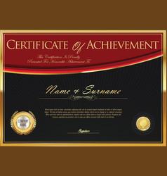 certificate retro design template 4 vector image
