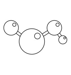 chemical and physical molecules icon outline vector image