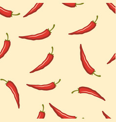 chili pepper colored seamless pattern vector image