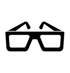 cinema glasses icon black silhouette icon vector image