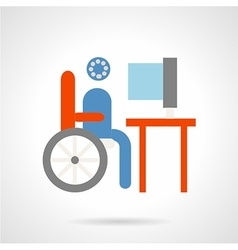 Distance education flat icon vector image