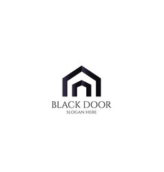Door logo for home or real estate letter a or d vector