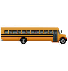 Door side of school bus mockup realistic style vector